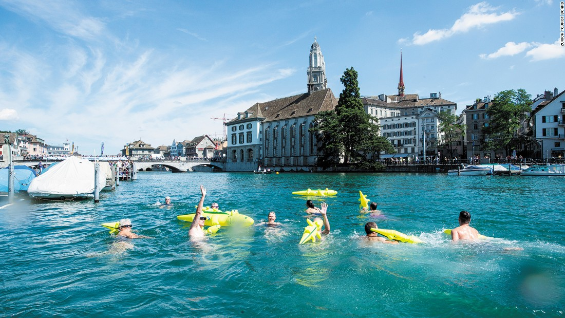 Zurich has 18 official outdoor bathing spots, all offering crystal-clear water in stunning surroundings. <br />