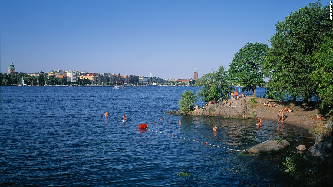 When the summer sun shines on the Swedish capital, locals grab their swimsuits. The archipelago city has plenty of pretty beaches and secluded coves.