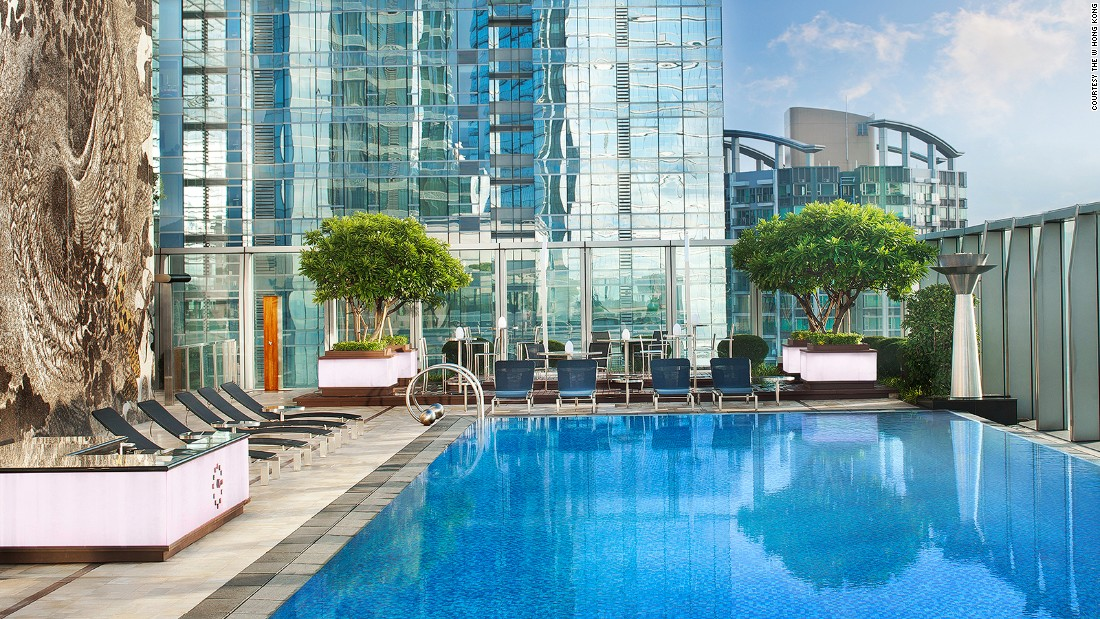 Sticky, humid summers mean swimming is almost a necessity in Hong Kong. The W is just one of the city hotels offering a classy way to cool down.