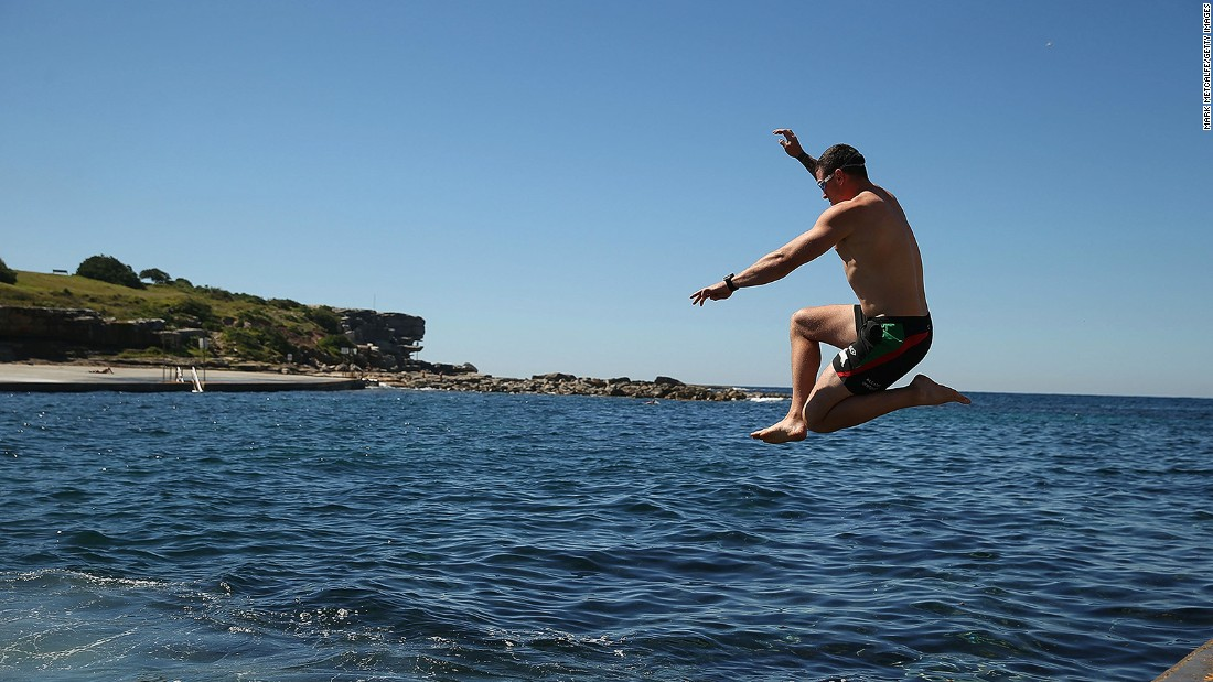 Swimmers should swerve the surfers at Bondi and instead make for 350-meter-long Clovelly Bay.
