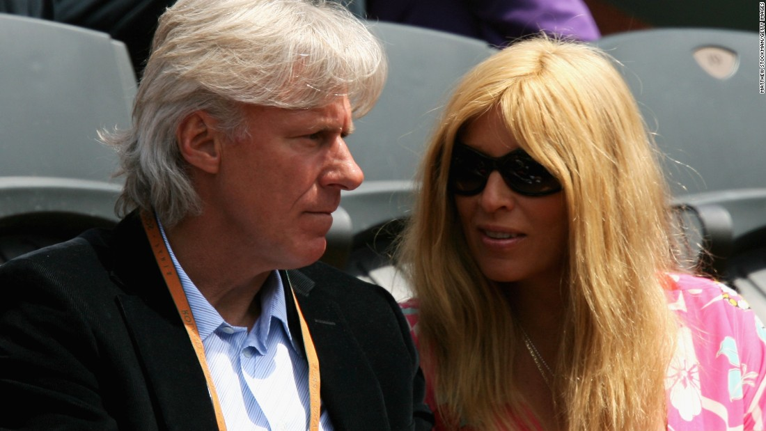 Former Swedish tennis player Bjorn Borg and his wife Patricia Ostfeldt watch the action at the French Open at Roland Garros. Eleven-time grand slam winner Borg has been taken aback by the parental pressure he's seen on the junior tennis circuit in Sweden.