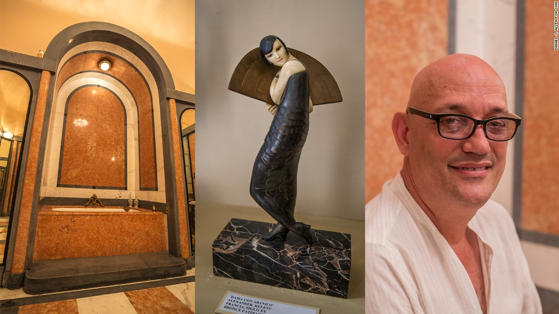 """For many years, most people simply overlooked Cuban Art Deco. They thought that colonial architecture was the priority,"" says Gustavo Lopez, director of Habana Deco, a group that protects Cuba's Art Deco heritage. But the tide is changing. Lopez is also deputy director of the National Museum of Decorative Arts. Mostly neo-classical, the 1920s villa housing the museum features an oppulently Art Deco bathroom.<em> 502 Calle 17, between D and E</em>"