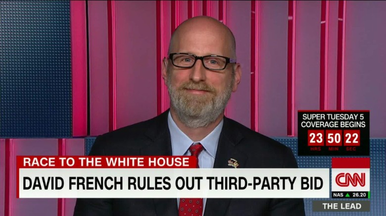 david french rules out third-party bid jake tapper interview the lead_00003223