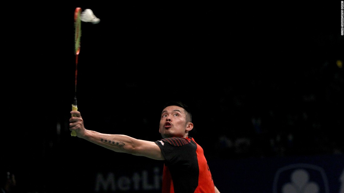 Chinese badminton player Lin Dan plays a shot during the Indonesia Open on Thursday, June 2.