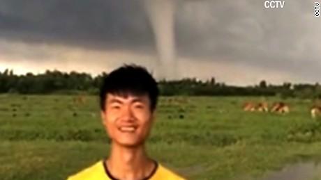 smiling man tornado