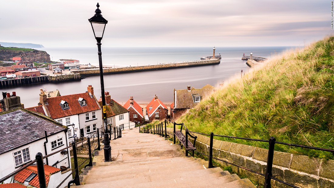 "The historic harbor at Whitby, in northeastern England, separates two excellent beaches. The town also celebrates a darker side with an annual ""goth weekend,"" trading on its connections to former resident and ""Dracula"" author Bram Stoker."