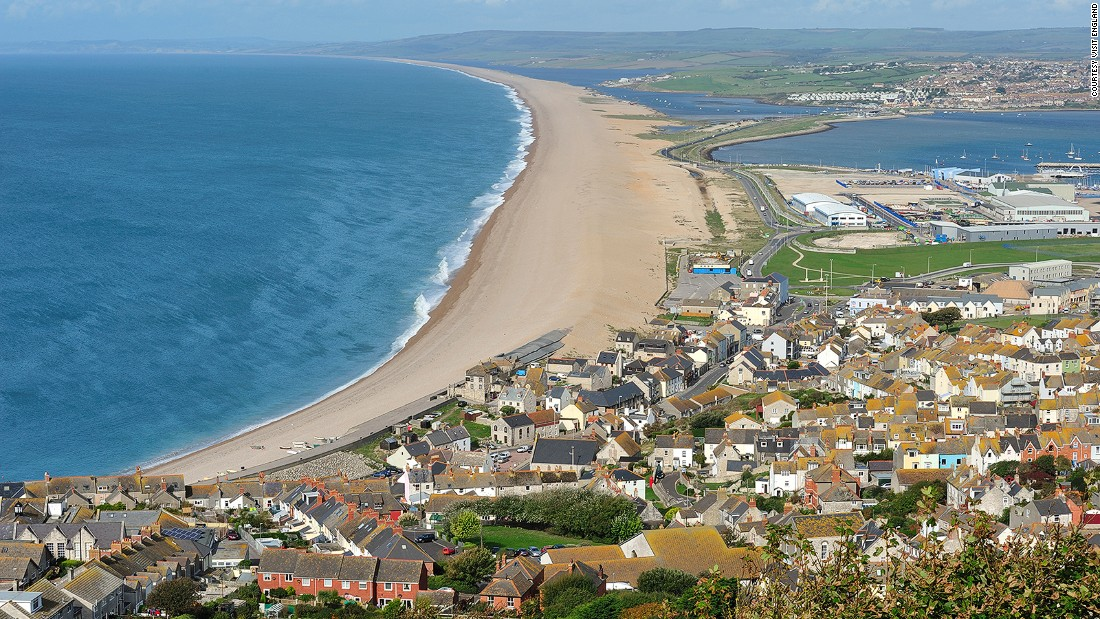 A shingle sandbar pushed landwards over hundreds of years, the 18-mile Chesil Beach is a unique feature on the English coastline.