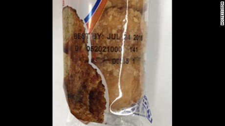 "Recalled Hostess snacks can be identified by their ""best by date"" and batch number on the packaging."
