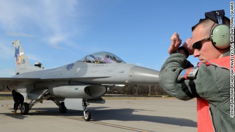 F-16C jets similar to this one assigned to the 169th Fighter Wing collided Tuesday night.