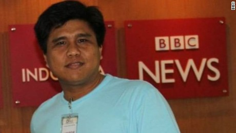 BBC Myanmar reporter Nay Lin was jailed for three months for assaulting a police officer.