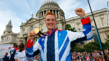 Briton Greg Rutherford is defending Olympic long jump champion.