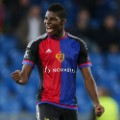 Breel Embolo of Basel  and Switzerland Next generation