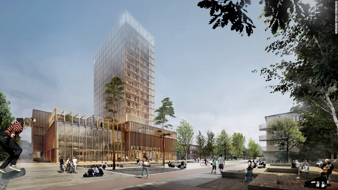 The proposed design won an architecture competition in the city of Skelleftea. There were 55 entries from 10 countries.