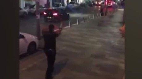 tel aviv terror attack video show police shooting at suspect holmes read_00003708