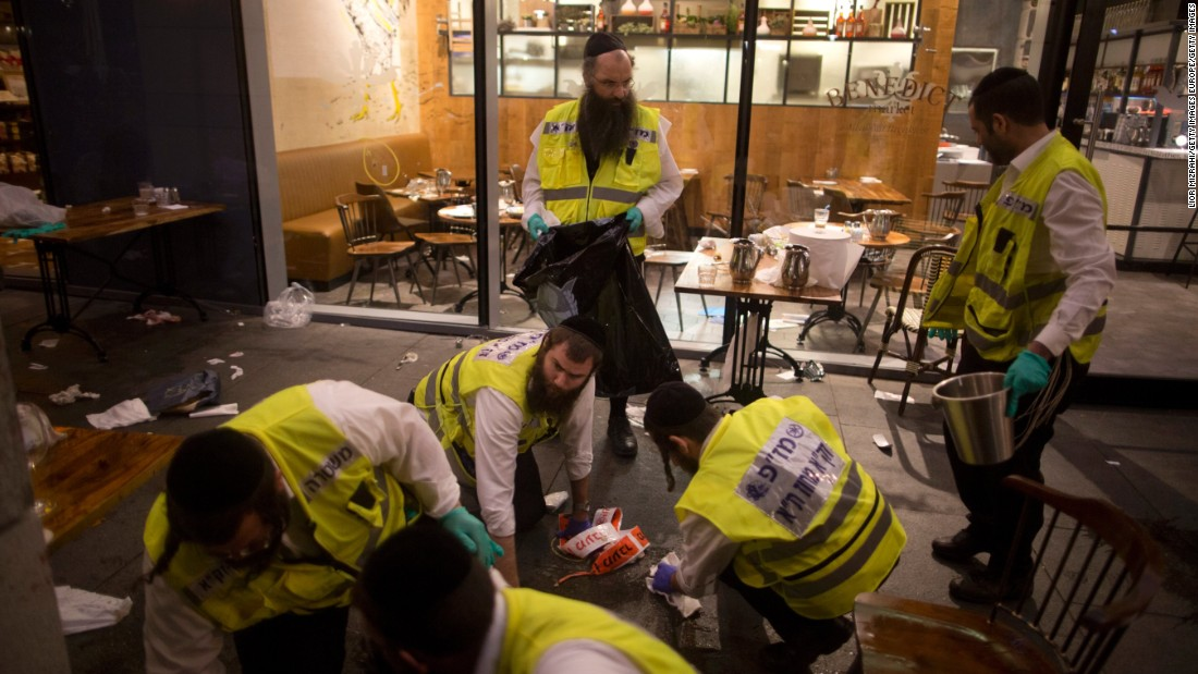 The attackers were dressed as Hasidic Jews, a law enforcement source briefed by Israeli officials said. Police officers shot one of the suspects. The other surrendered.