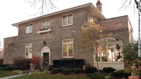The Park Ridge, Illinois childhood home of Hillary Rodham Clinton.
