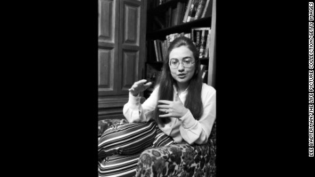 Democratic presidential nominee, Hillary Rodham Clinton while at Wellesley College.