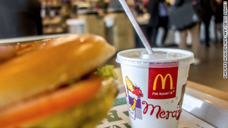 Customers at a McDonald's in Besancon, France will have been grateful to paramilitary officers who apprehended a pair of armed robbers.