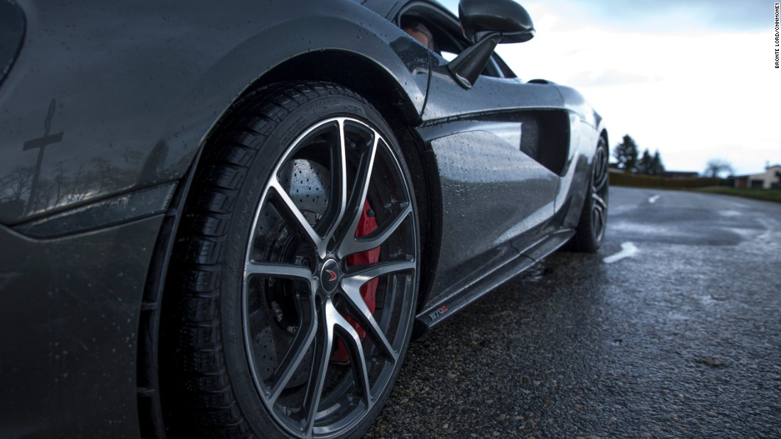 Scoops in the McLaren's dihedral doors usher air into the engine cooling system.