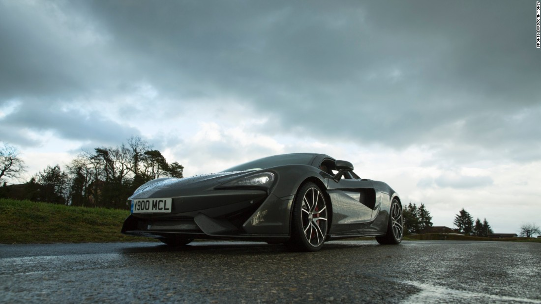The McLaren 570S enters the market as relatively affordable supercar: a cool $184,900. Featuring a 3.8-liter turbocharged V8 engine, a top speed of 204 mph and 562 BHP, it's no slouch, with a look drawing on biomimicry according to chief designer Robert Melville.
