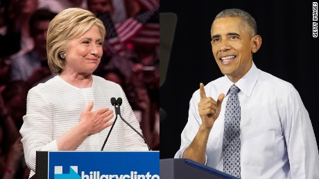 President Barack Obama endorses Hillary Clinton