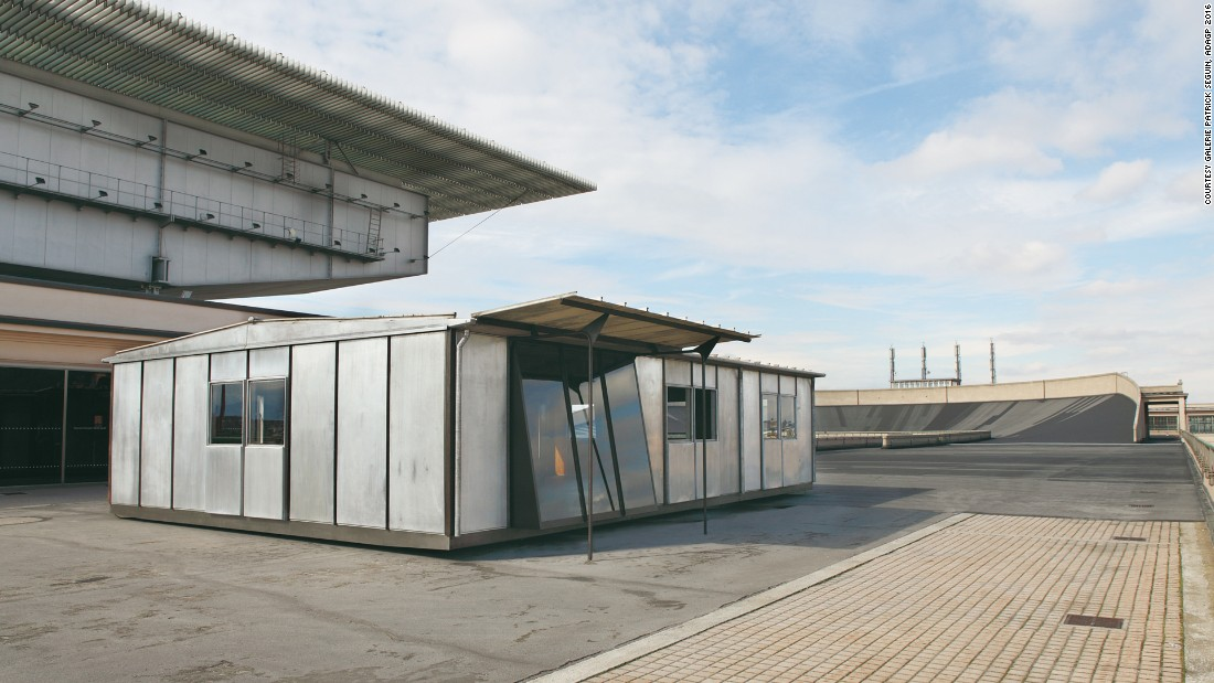 "In 2013, Seguin put on an exhibition in Turin, entitled ""A Passion for Jean Prouvé"" in Turin. This 8-by-12 meter aluminum and wood ""Metropole"" house, designed circa. 1949, was rebuilt on the test track atop the old Fiat Lingotto factory."