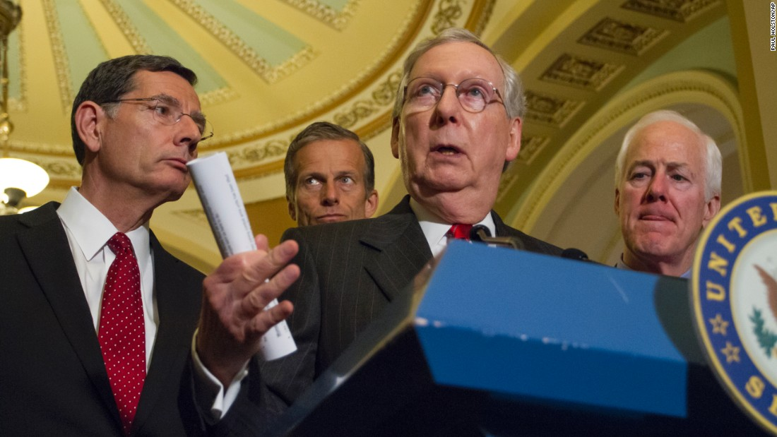 """Senate Majority Leader Mitch McConnell responds to reporters' questions on statements made by Donald Trump during a Capitol Hill news conference on Tuesday, June 7. McConnell <a href=""""http://www.cnn.com/2016/06/08/politics/mitch-mcconnell-donald-trump-right-direction/index.html"""" target=""""_blank"""">has been an outspoken critic of Trump's</a> over the past week, but he is still backing the presidential candidate as the Republican Party's standard-bearer."""