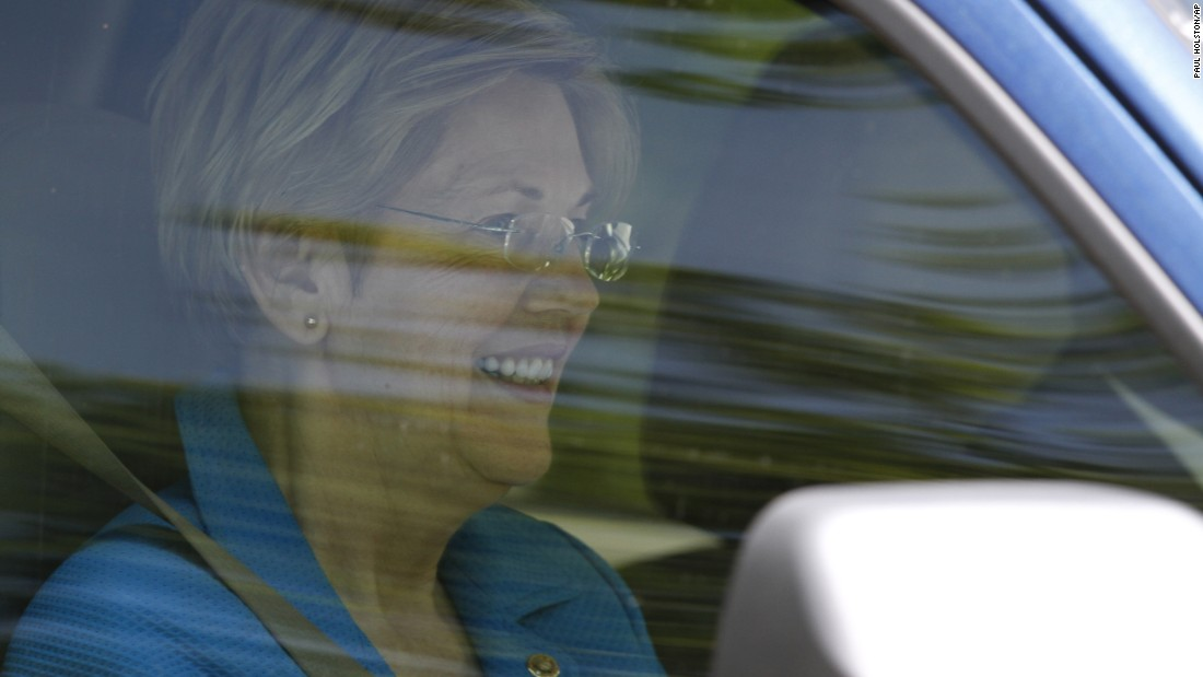 "U.S. Sen. Elizabeth Warren leaves the Washington home of Democratic presidential candidate Hillary Clinton on Friday, June 10. A day earlier, <a href=""http://www.cnn.com/2016/06/09/politics/elizabeth-warren-to-endorse-hillary-clinton/"" target=""_blank"">Warren endorsed Clinton</a> and called on Democrats to unite behind her."