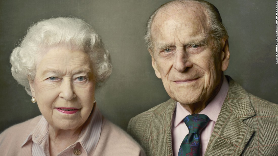On June 10, Buckingham Palace released a new official photograph to mark the Queen's 90th birthday. It shows her with Prince Philip and was taken at Windsor Castle just after Easter.