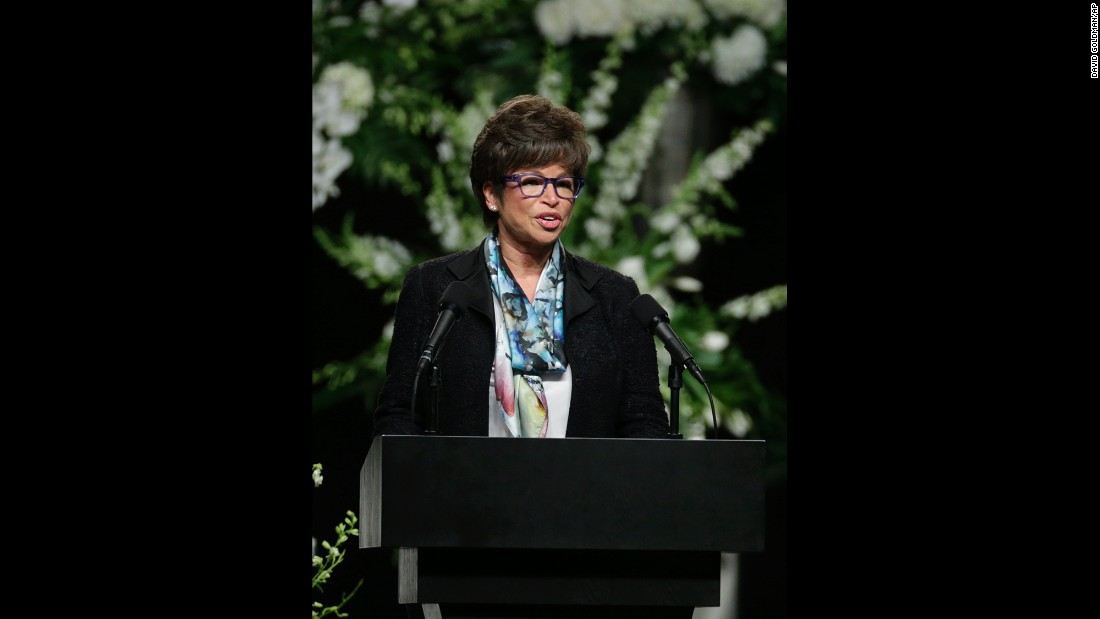 Valerie Jarrett, Senior Advisor to President Obama, delivered a message from the President.