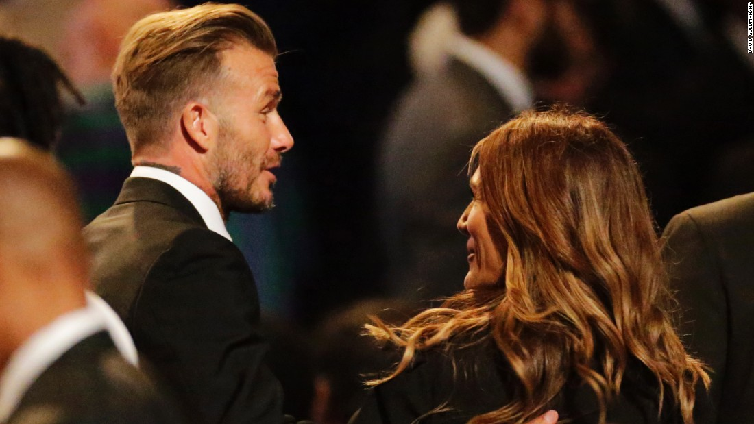 Former soccer star David Beckham was in attendance.