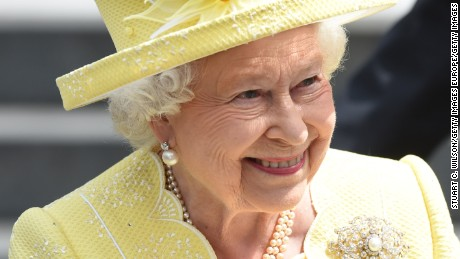 Queen Elizabeth II attends thanksgiving service on Friday.