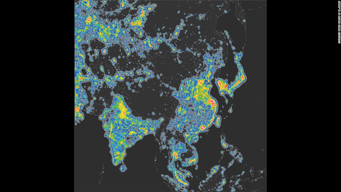 "The country with the worst source of light pollution is Singapore. The population is under such extreme light conditions that people's eyes ""cannot fully dark-adapt to night vision,"" the study finds."