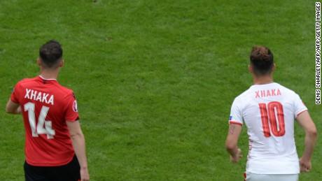 The Xhaka brothers made European Championship history Saturday.