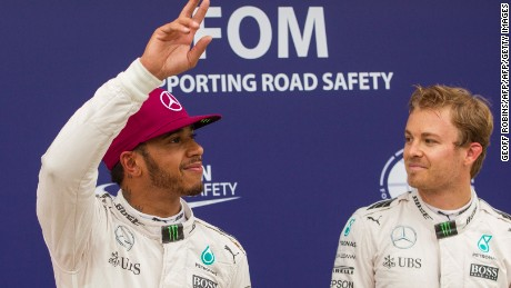 Lewis Hamilton pipped his Mercedes teammate Nico Rosberg to pole position in Canada.