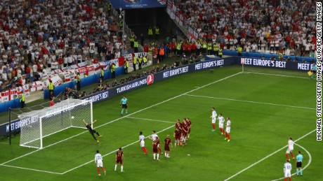 Eric Dier curled home a free kick to give England victory.