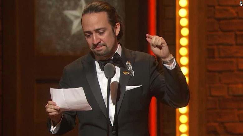 Lin-Manuel Miranda pays tribute to shooting victims