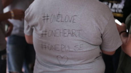 Scenes of grief, love and support fill Orlando