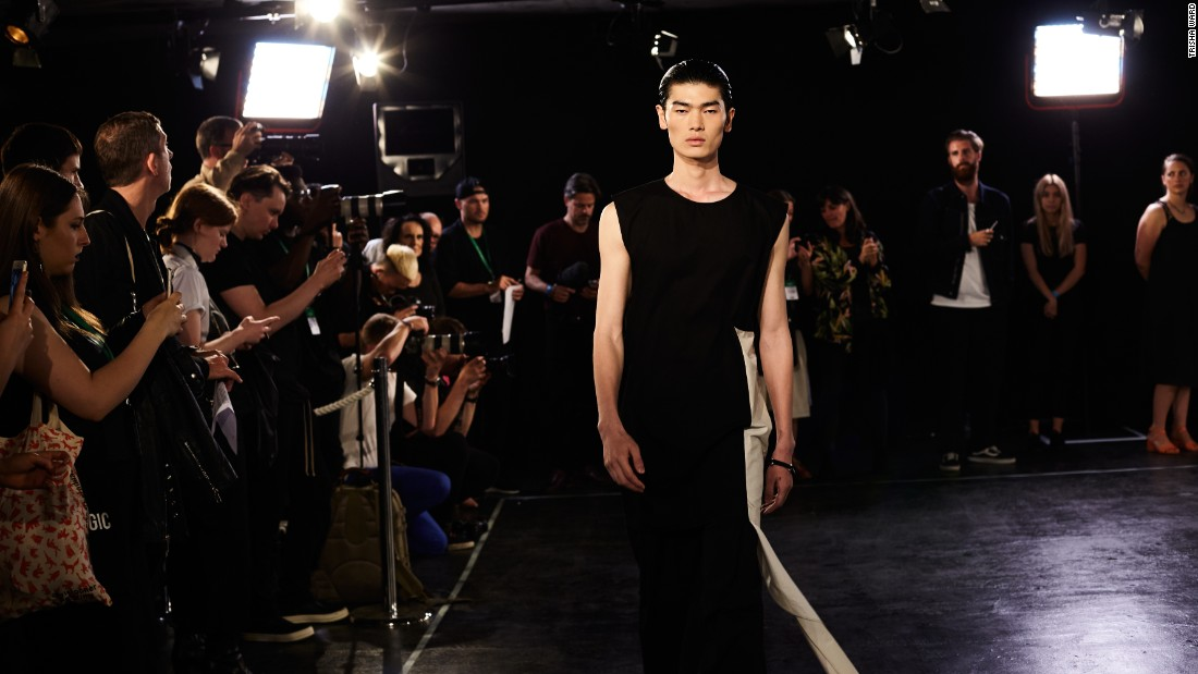 On the catwalk  with Berthold's Spring-Summer 2017 collection.