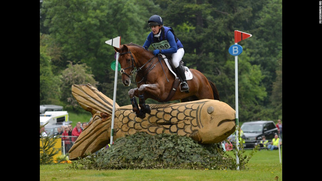Kristina Cook rides Billy The Red during an equestrian event in Bramham, England, on Saturday, June 11.