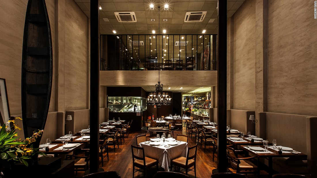 Sao Paolo's D.O.M. has fallen from 9th position in 2015 to 11th this year. The restaurant's chef-patron Alex Atala is known for his use of traditional local fare such as palm hearts and cassava.