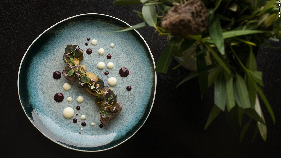 Chicago's sophisticated Alinea restaurant is known for its dishes that could easily be artworks.