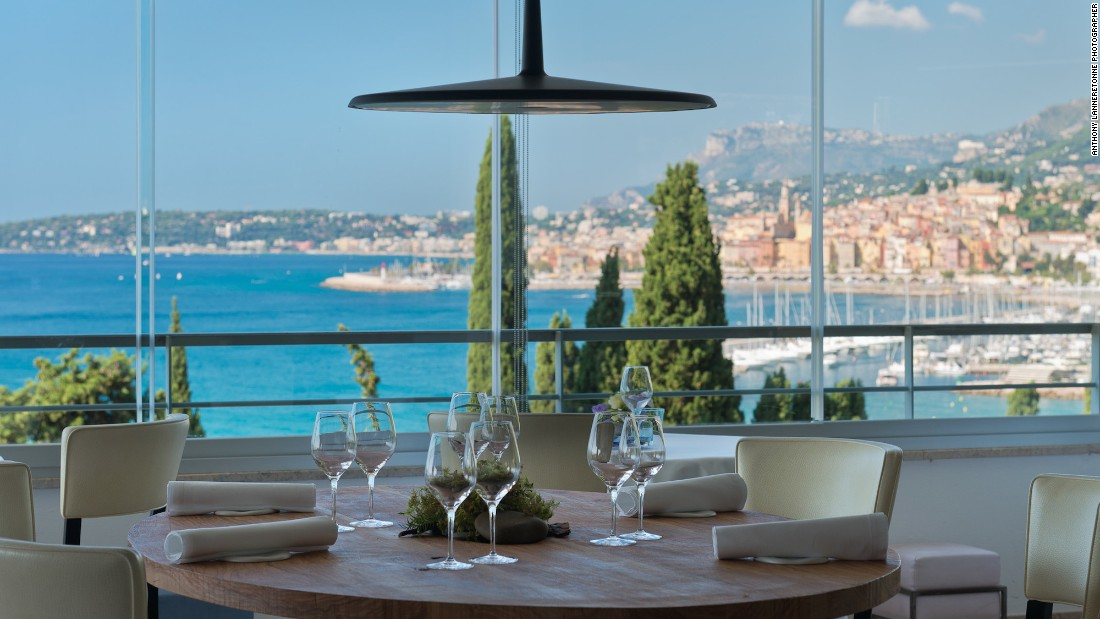 Mediterranean restaurant Mirazur, run by Argentinian-Italian chef Mauro Colagreco, sits on the French side of the riviera, just steps from the Italian border.