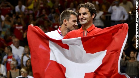 Roger Federer's pep talk for Swiss team at Euro 2016