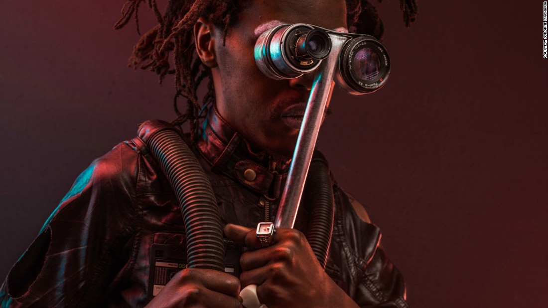 Karanja 'the mole' jere: normally operates underground with his modified underground breathing suite. His hair is designed to appear like a rodent burrowing through the soil and he's spectacles are telescopic able to see close to one kilometer away.