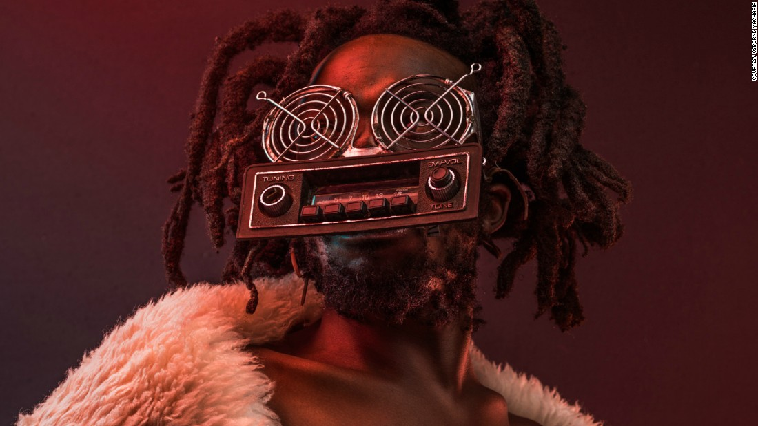 Nyakundi is a communications expert and voice imitator. He uses the knobs attached to the mouth piece on his spectacles to imitate five different animals using code language.