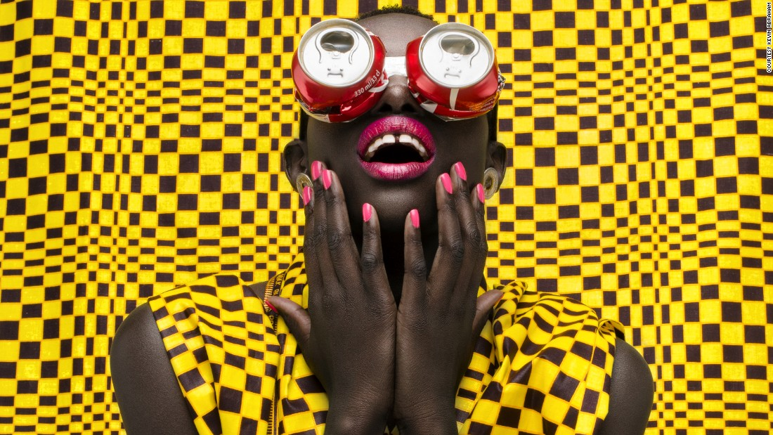 """I wanted to make it diverse or different from any images you've come across so hence the colors and spectacles"" says Abraham."