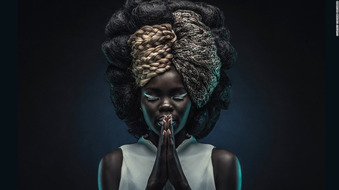 "Afro Juba, 2015. The concept was to celebrate both African hairstyles as well as childhood games. The hairstyles were created by Kenyan locals Richard Kinyua and Corrine Muthoni. ""Each image was representing a certain childhood game that all Kenyans identify with"" says Macharia."