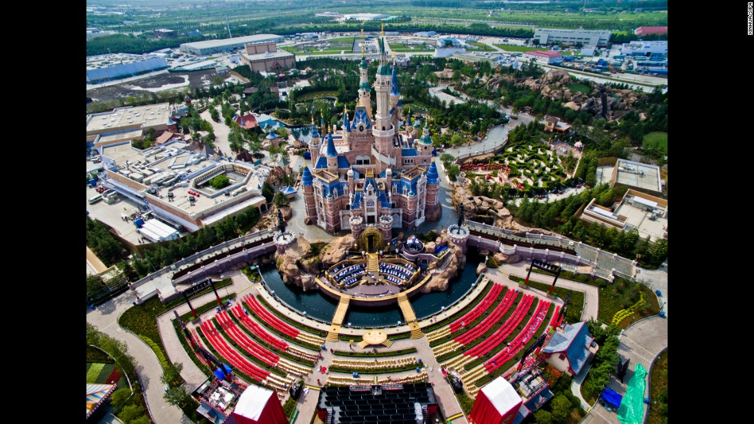Shanghai Disney Resort opens to the public on June 16. The largest Disney park ever built, it spans a huge area on the outskirts of China's eastern financial capital. These images taken from the air over the past few months show the scale of the project.