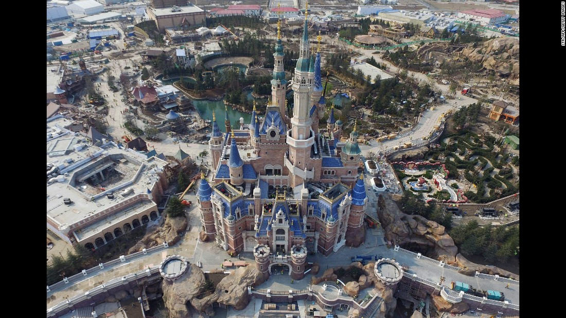 Shanghai Disney Resort's Enchanted Storybook Castle is the largest and tallest Disney castle ever constructed.